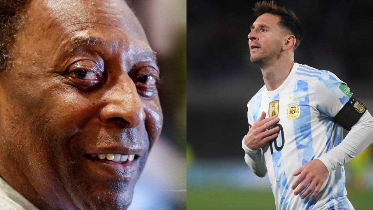 Especial mensaje de Pelé a Lionel Messi por superar su récord de goles con selecciones