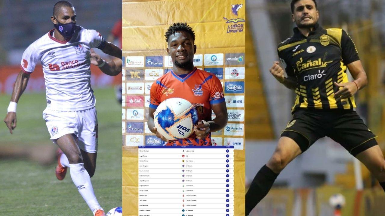Estos son los máximos goleadores en lo que va del Apertura 2021-2022 en Honduras