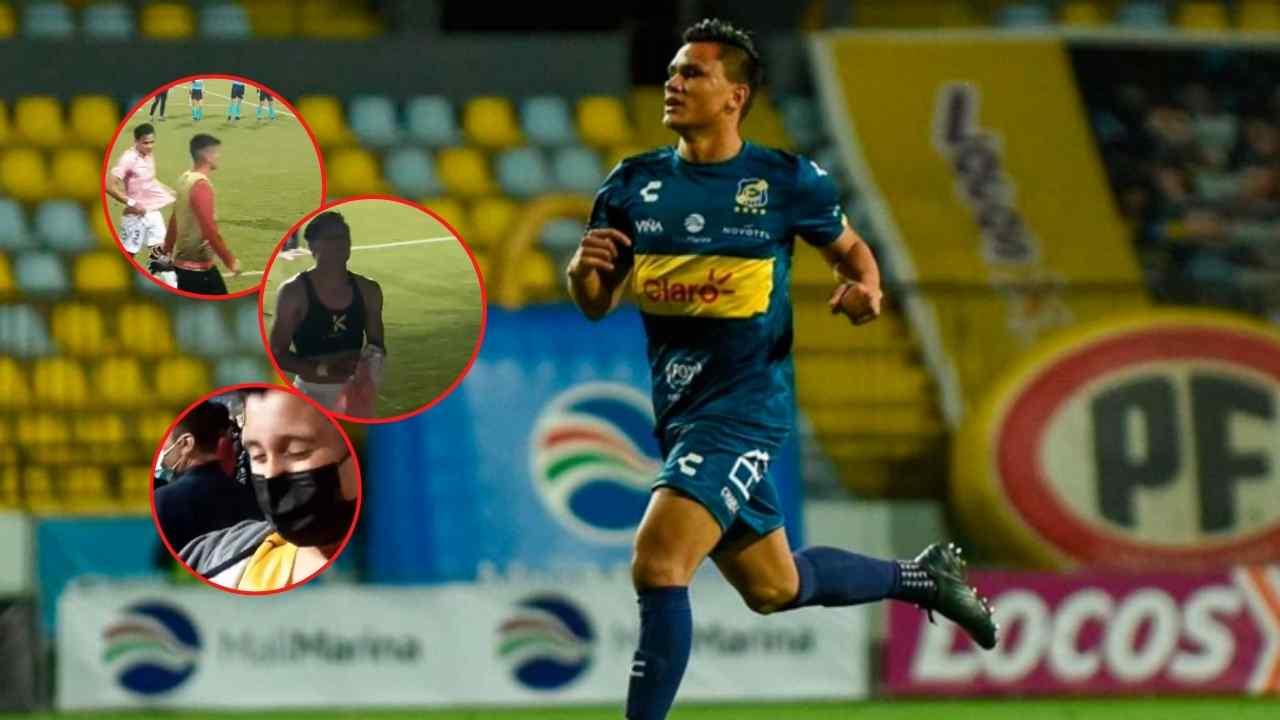 Denil Maldonado se luce con admirable gesto con un niño aficionado en Chile