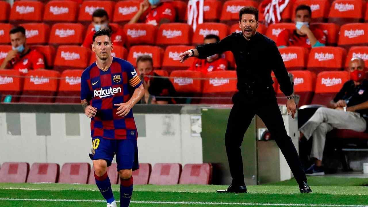 Cholo Simeone intentó fichar a Messi al Atlético