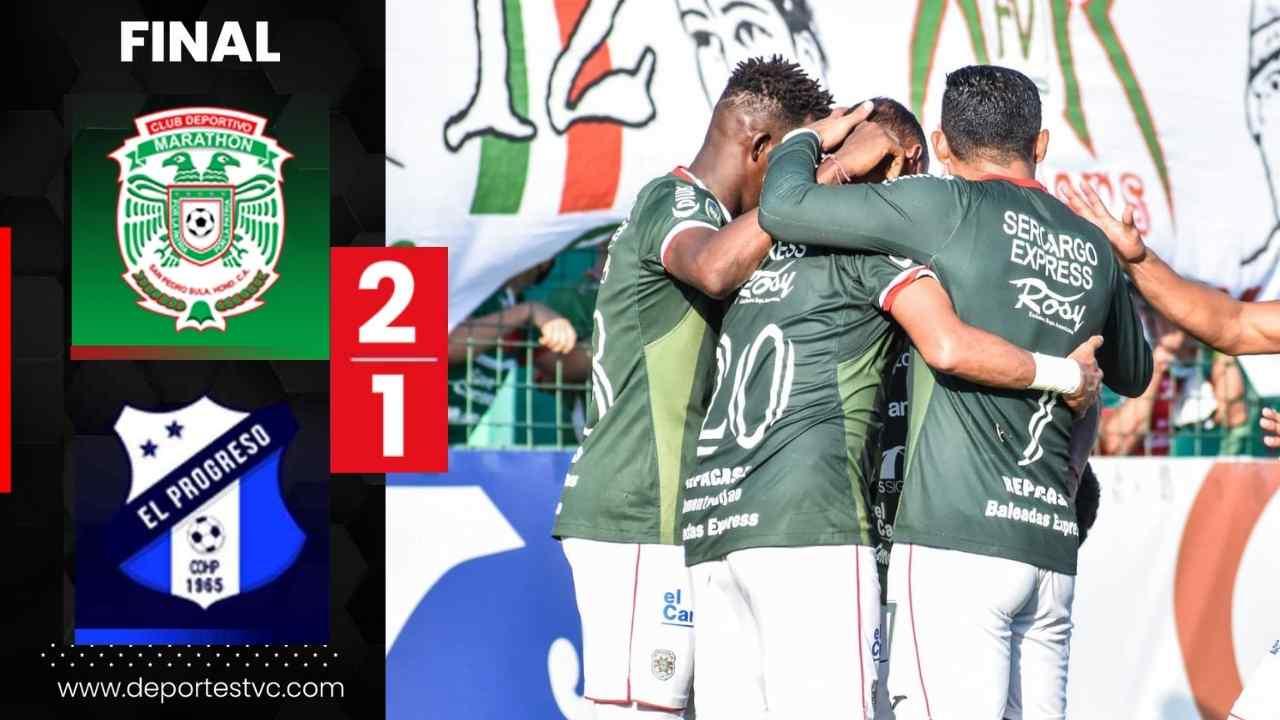 Con nueve jugadores, Marathón le saca un importante triunfo ante Honduras Progreso