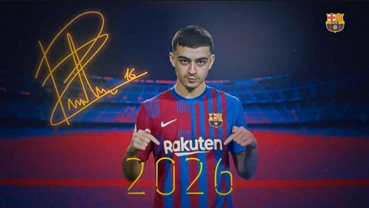 Barcelona blinda a Pedri hasta 2026