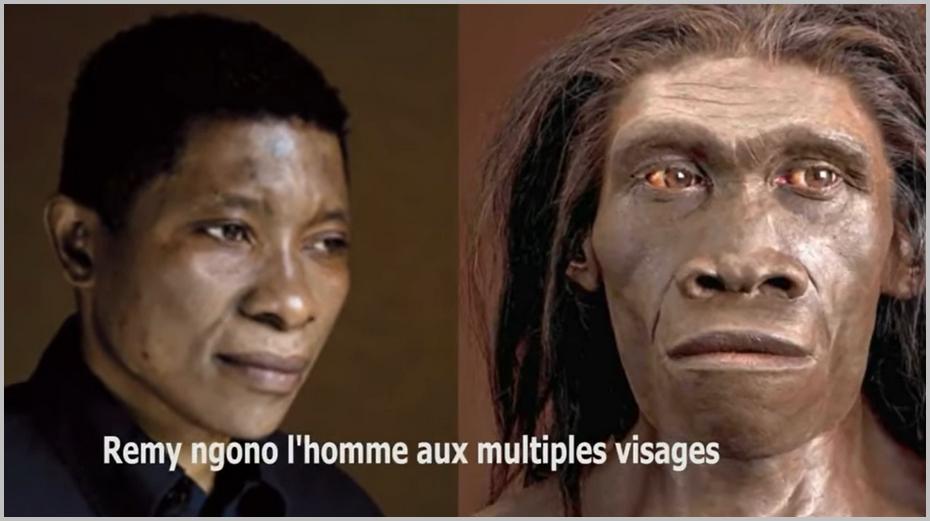 Dans le reportage de Vision 4, J. Rémy Ngono a été comparé à un homme des cavernes. Capture: YouTube /CC