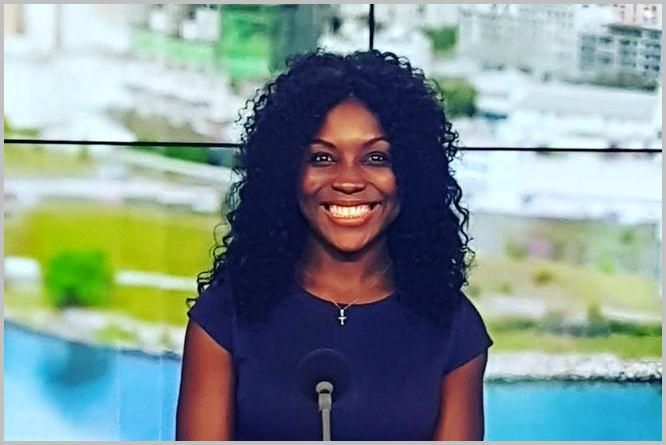 Marie-Flore Amassana est une journaliste de Balafon TV. Source: Twitter /CC