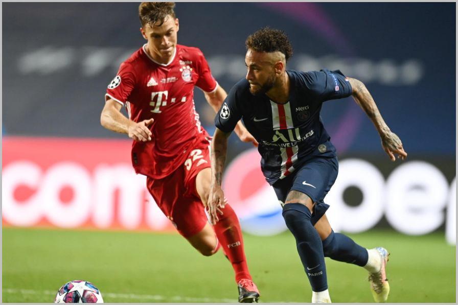 Avec les nouvelles règles, le PSG de Neymar ne serait pas passé contre le Bayern de Kimmich. Crédit: uefa.com /Image reproduite sous autorisation