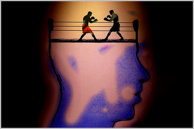 Il y a un combat de boxe dans le cerveau, entre les croyances et les agissements de l