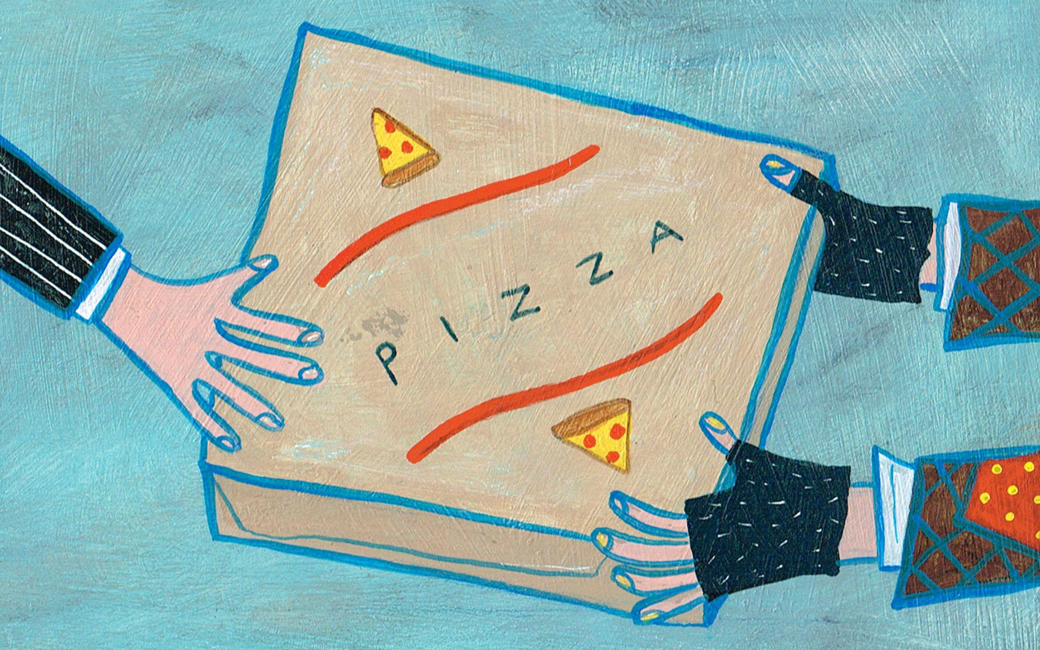 A Pizza Box SIgn