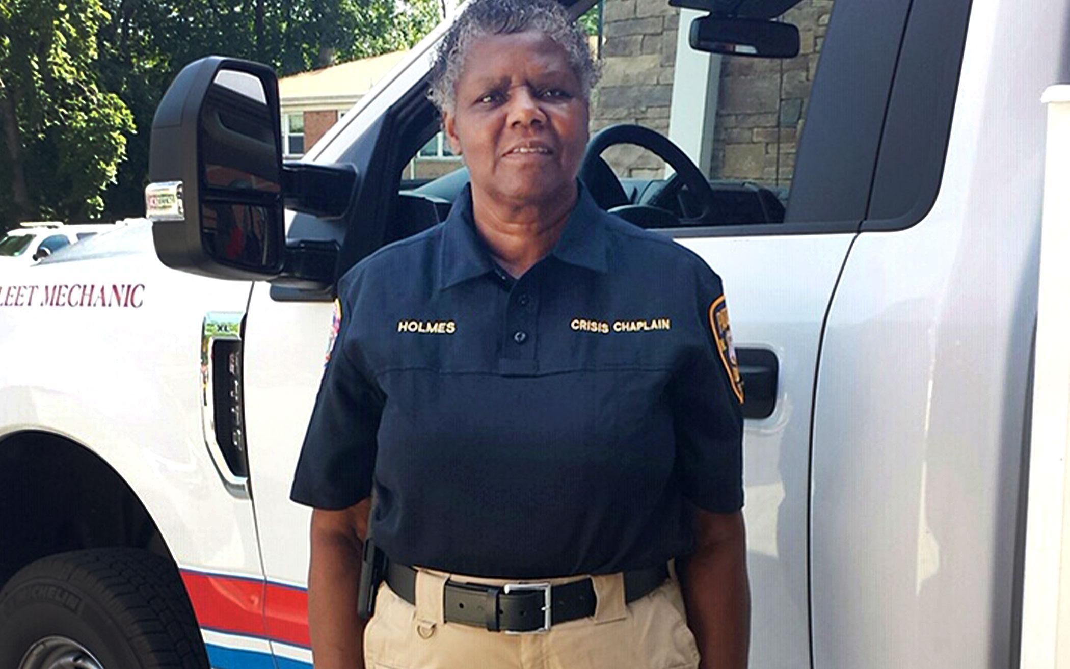 Rev. Sheila Holmes, Crisis Intervention Chaplain with the Paterson Police force.