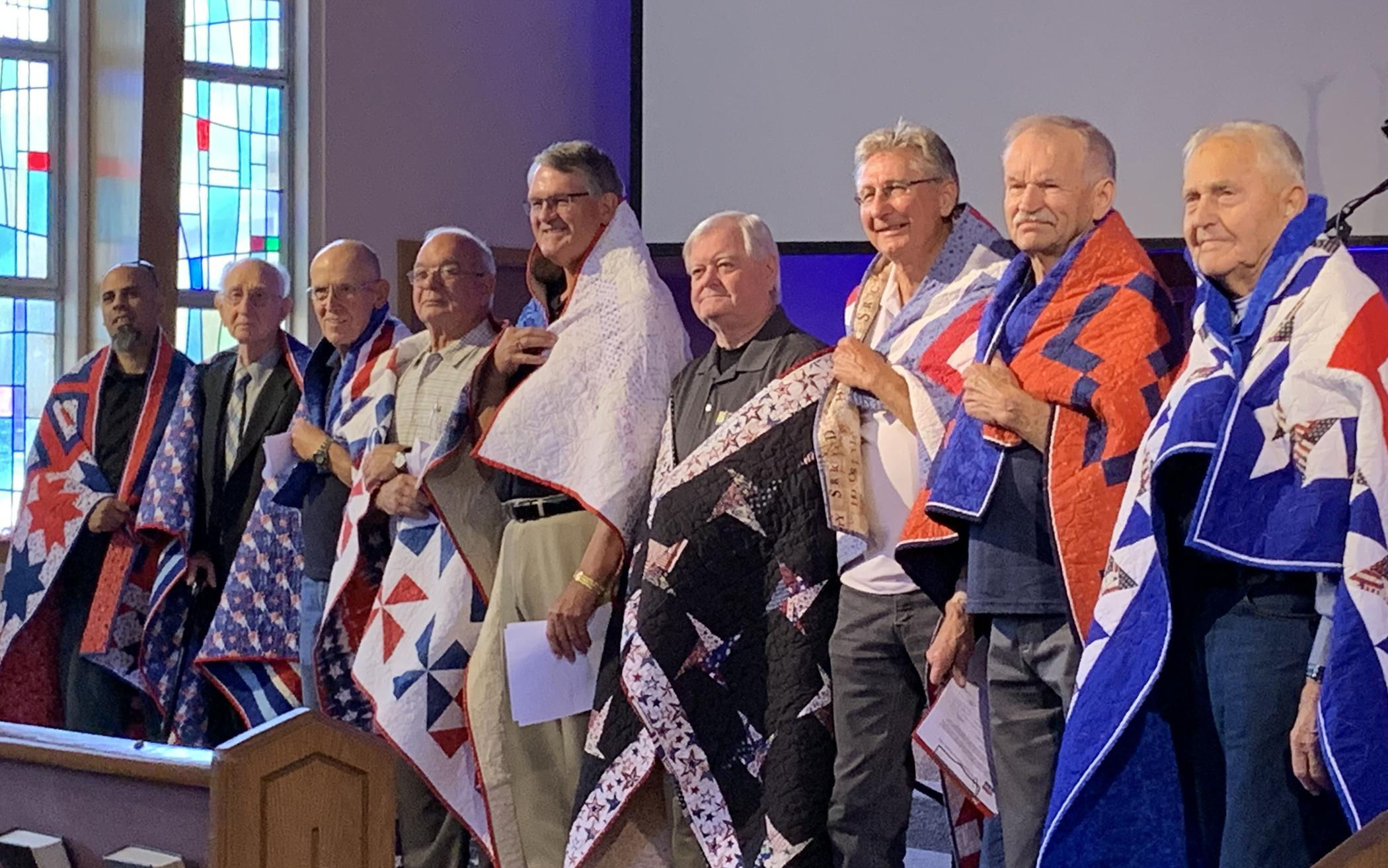 California Congregation Honors VeteransWith Quilts