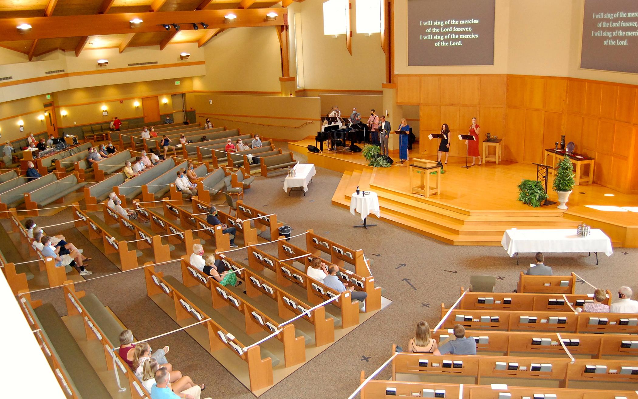 Churches Offer Worship With Extra Space, Continue Streaming