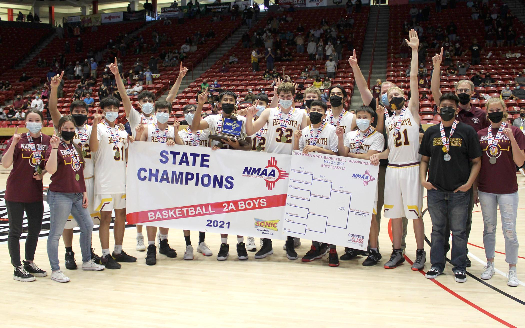 Rehoboth Christian School, State Champs in Boys Basketball