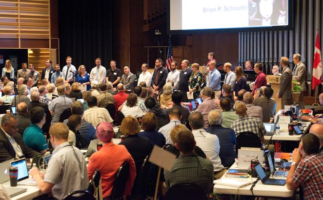 Synod Receives Candidates for the Office of Minister of the Word