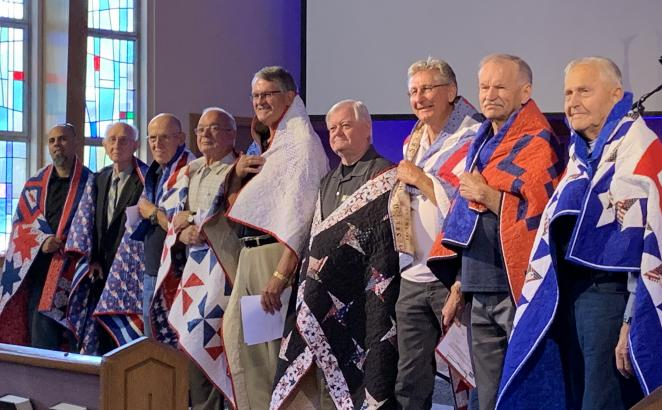 California Congregation Honors Veterans	With Quilts