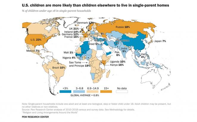 Study Looks at Religion, Family Size, and Single Parenting