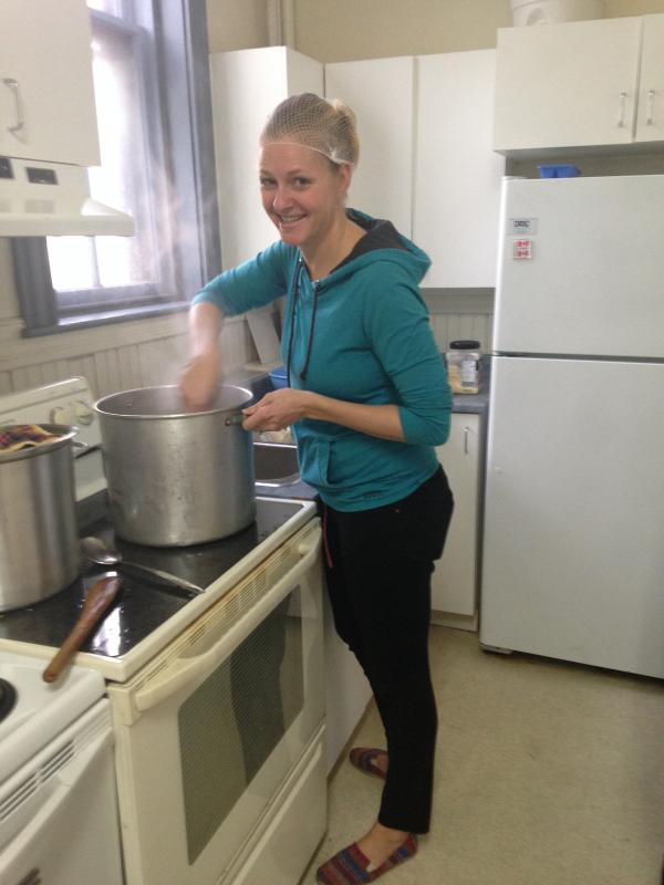 Lydia Mans at All Nations CRC's Community Kitchen.