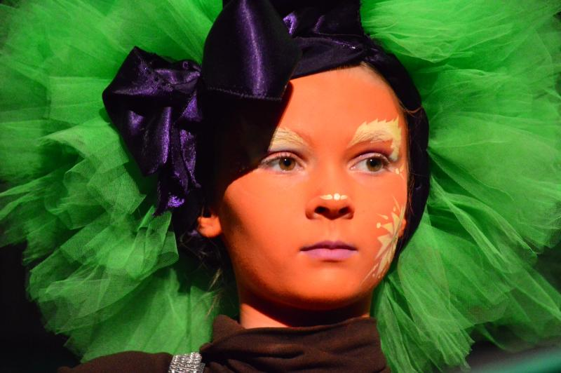 Emerson as an Oompa Loompa.