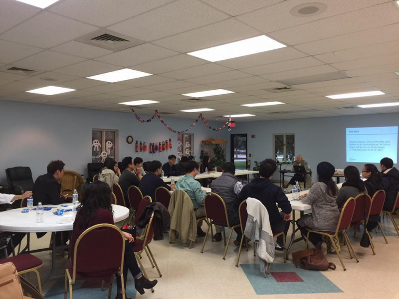 Korean young adults gathered for the Faith and Work Forums in Ann Arbor and Grand Rapids, Mich.