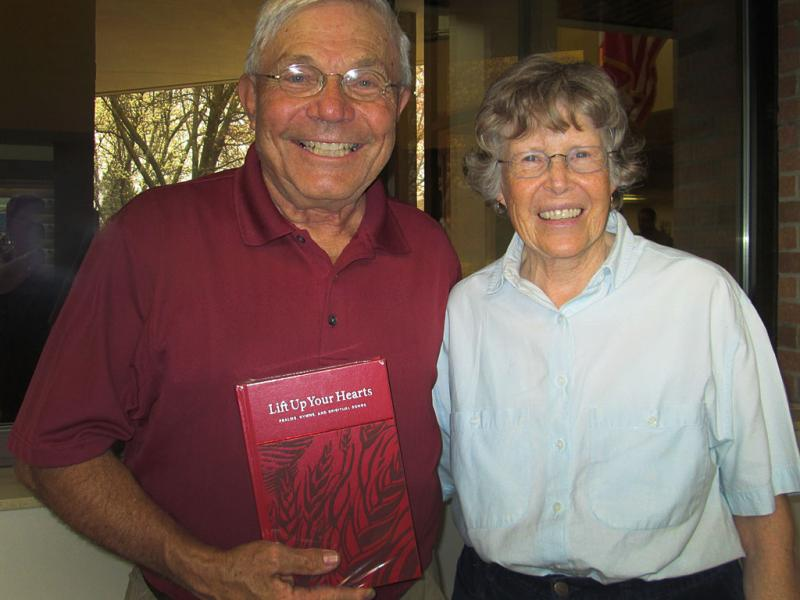 Larry and Barbara Van Genderen of Jackson Hole, Wyo., purchased the very first copy of the new hymnal.