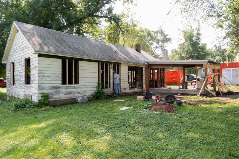 The Sabec brothers' home as the rebuild begins.