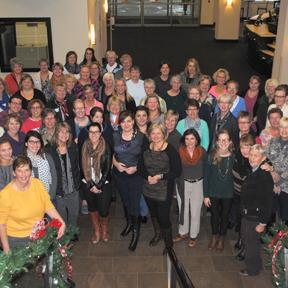 Sixty-four women attended the Women's Leadership Retreat.