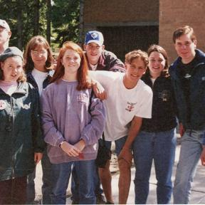 1995 – Teens from the Trillium League at the convention in Ottawa.