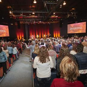 More than 800 women gathered at the Meeting House for the 2015 Inspirational Women's Conference.