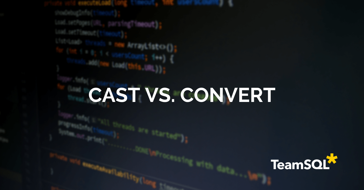 Computer monitoring lines of codes with cast vs. convert title.