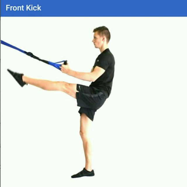 How to do: TRX Front Kicks - Step 1