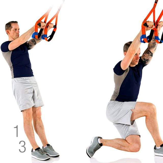 How to do: TRX CROSSBACKLUNGE - Step 1
