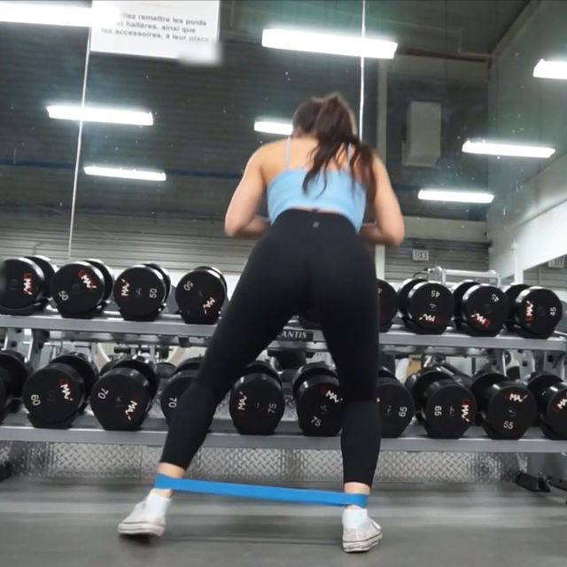 How to do: Resistance Band Lateral Squat Walks - Step 1
