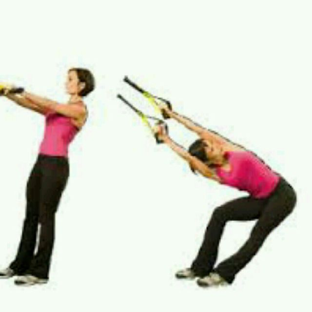 How to do: TRX RIGHT SIDE STRETCH - Step 1