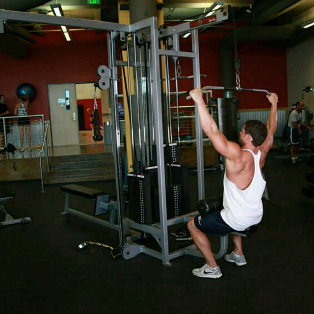 How to do: Wide-Grip Lat Pulldown (custom) - Step 1