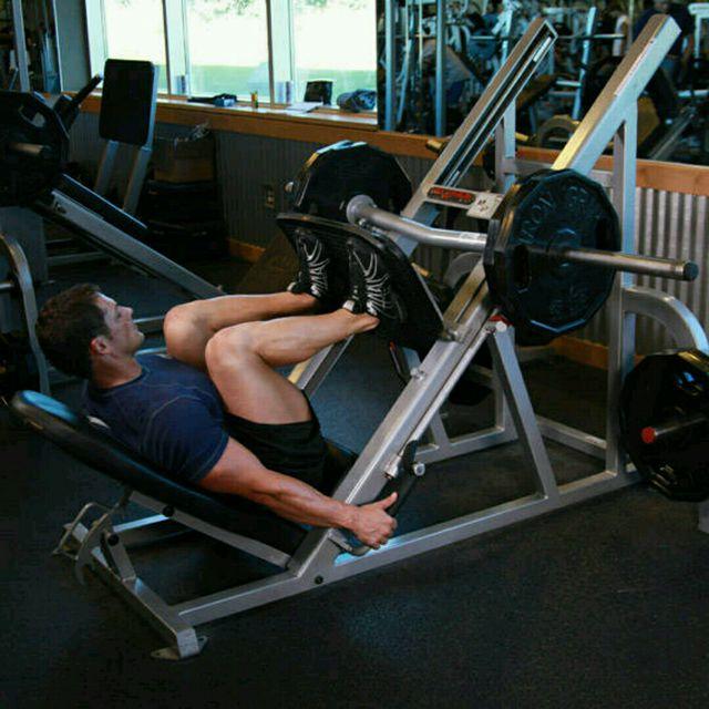 How to do: Leg Press (custom) - Step 1