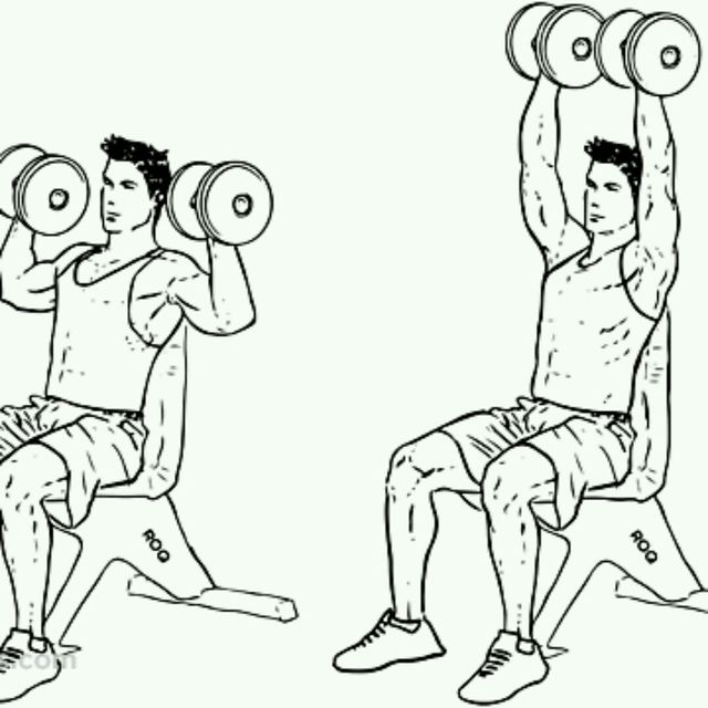 How to do: Dumbbell Shoulder Press - Step 1