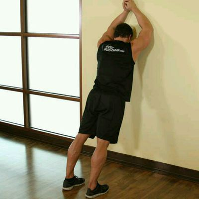 Calf Stretch Against Wall (custom)