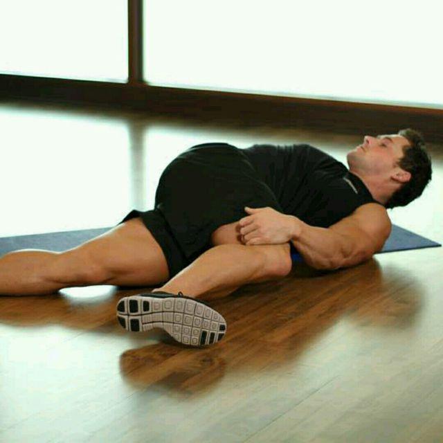 How to do: Knee Across Body (custom) - Step 1