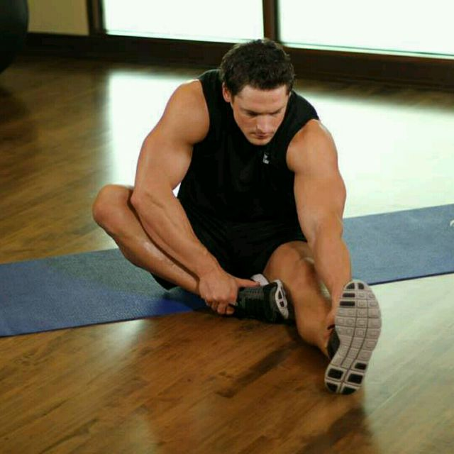 How to do: Seated Floor Hamstring Stretch (custom) - Step 1