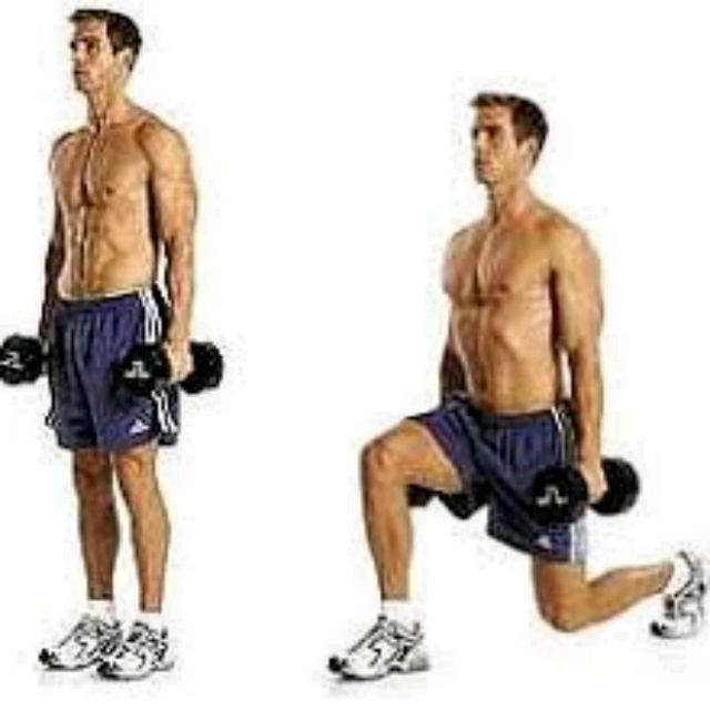 How to do: Alternating Lunges With Dumbell - Step 1
