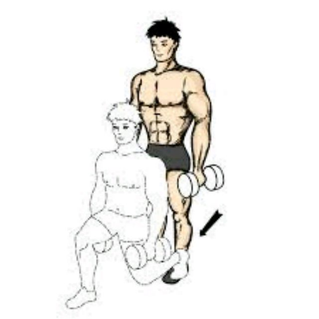 How to do: Alternating Lunges With Dumbell - Step 2