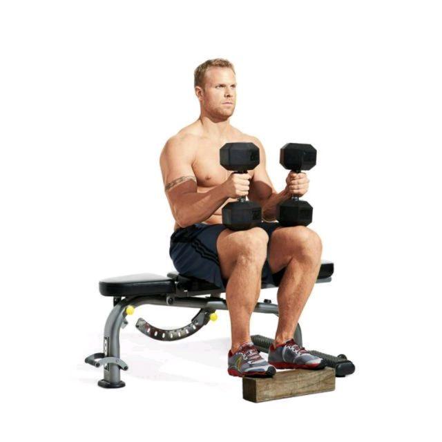 How to do: Seated Calf Raises - Step 2