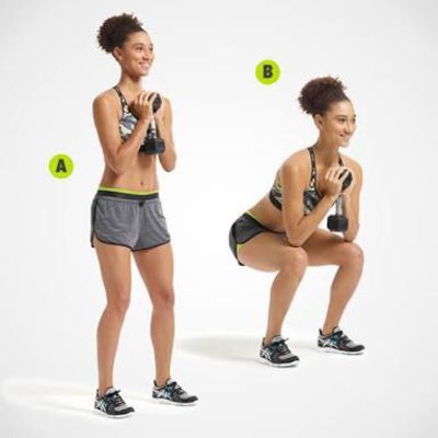 Dumbbell Pop Squat