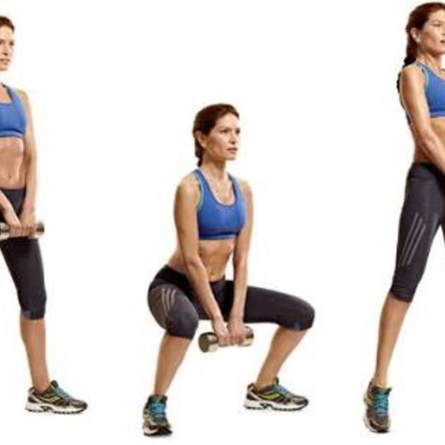 How to do: Dumbbell Sumo Squat Jump - Step 1