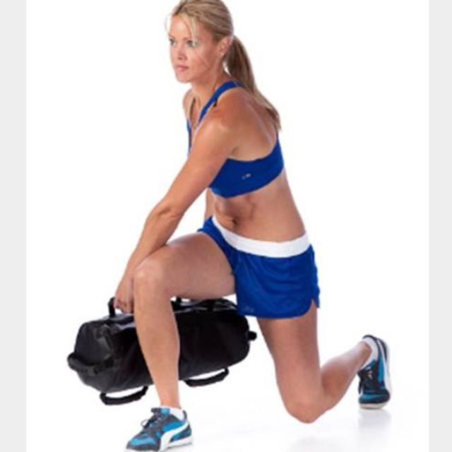 How to do: Sandbag Lunges - Step 1