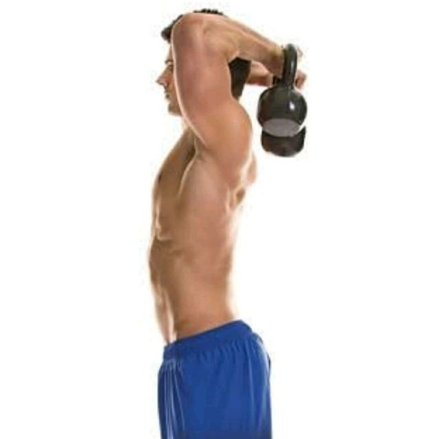 How to do: OVERHEAD TRICEPS EXTENSION - Step 1