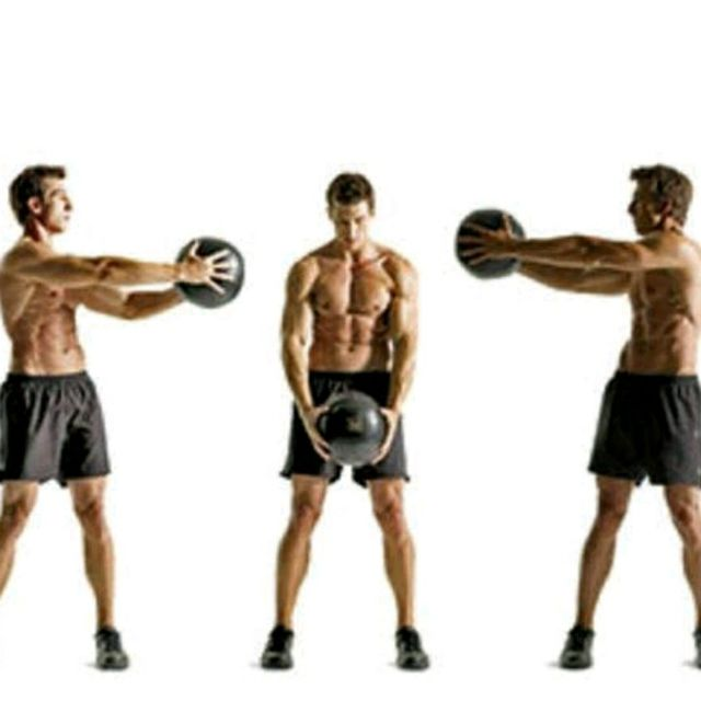 How to do: Medicine Ball Big Circles - Step 2