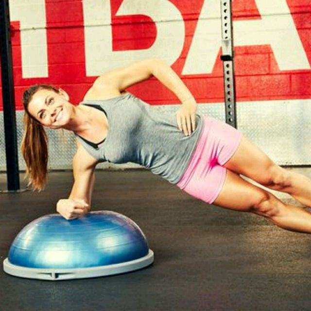 How to do: Bosu Ball Forearm Left Side Plank - Step 1