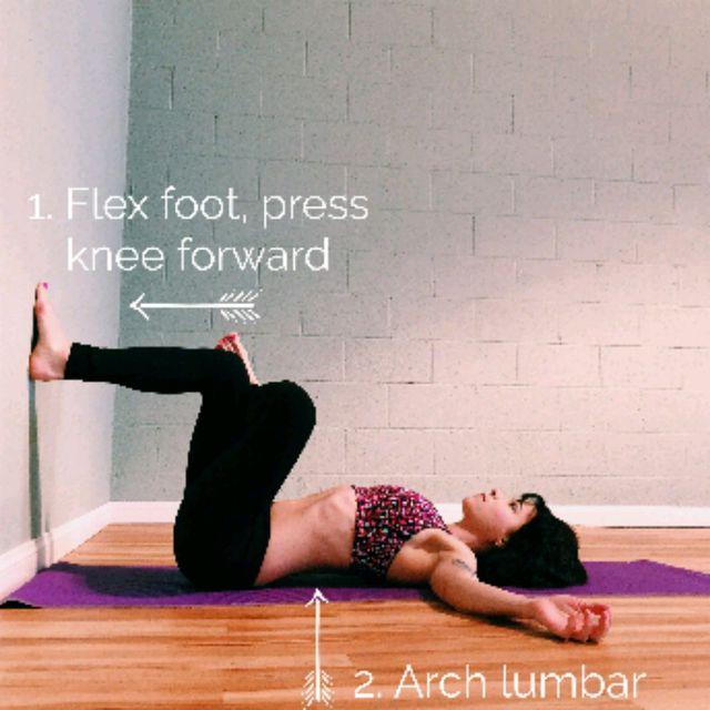 How to do: WALL PIRIFORMIS STRETCH (each Leg) - Step 1