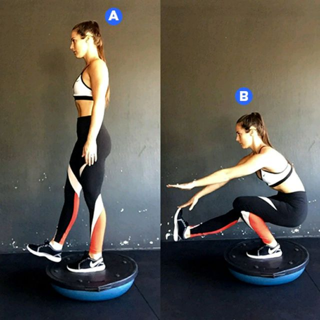 How to do: Bosu Pistol Squats - Step 1