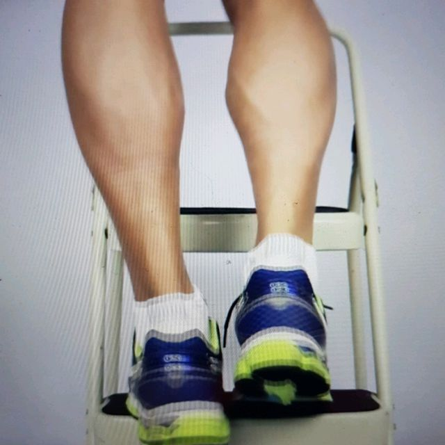 How to do: ECCENTRIC SINGLE LEG CALF RAISE - Step 10