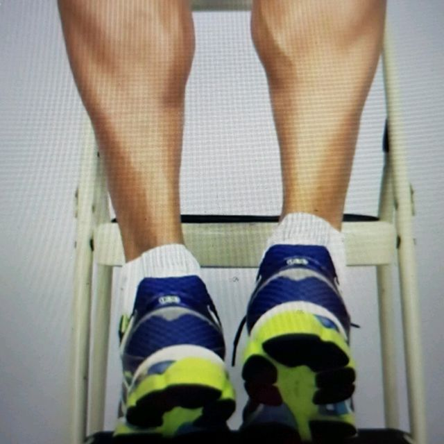 How to do: ECCENTRIC SINGLE LEG CALF RAISE - Step 13